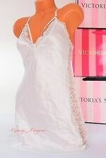 NWT VICTORIA'S SECRET Lingerie VS Slip Slick Lace Bridal Babydoll L White Jewel