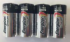 (4 Pack) Energizer EL123A CR123A 3 Volt Photo Lithium Battery - EXP 2024