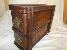 Pair of Wooden Antique Vintage Singer Sewing Machine Drawers with Surround