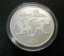 World Cup 1994 Sterling Silver Proof 10 Yuan China 1993 Football Design