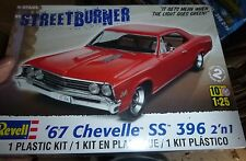 REVELL 1967 CHEVY CHEVELLE SS 396 1/25 Model Car Mountain KIT FS STREETBURNER