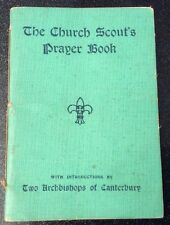 """Ultra Rare 1931 """"The Church Scout's Prayer Book"""" Woven Cover Paperback 64 Pages"""