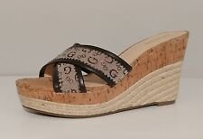 """NEW!! Womens Guess 4"""" Cork Wedge Heels Size 9M"""