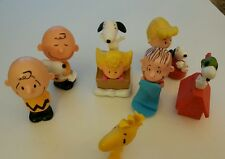 Peanuts Charlie Brown McDonalds Figures Toys Lot of 7 Snoopy Linus cake Top t9
