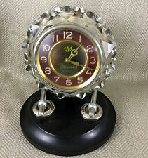 Vintage Art Deco Russian Large Desk Clock Crystal Glass Bakelite Soviet Retro
