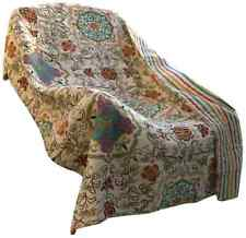 """Home Decoration Esprit Printed Reversible Quilted Throw Cotton Fabric 50x60"""""""