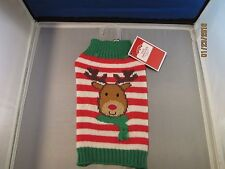DOG SWEATER BY SIMPLYDOG - XXS - REINDEER DESIGN - NEVER USED