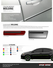 For: MAZDA3 Painted Body Side Mouldings Moldings W/ Color Insert Trim 2010-2016