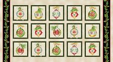1 Fabric Panel Christmas Elegance Mini Cushion Panels Fabric - 9934-49
