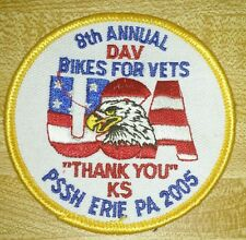 2005 DAV Bikes For Vets Erie PA Motorcycle Vest Patch Soldiers & Sailors Home