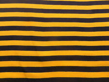 Stretchy Knitted Poly-Cotton T Shirt Type Clothing Fabric Yellow Black Stripes