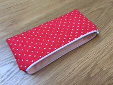 Handmade with Cath Kidston Mini Dot Red - Fabric Pencil/Make-Up/Glasses Case