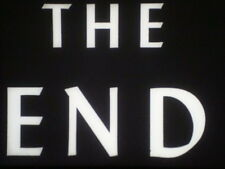 """35mm Film """"THE END"""" Titles in Black & White  *BRAND NEW*"""