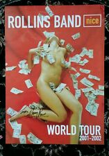 ROLLINS BAND NICE CD AUTOGRAPHED / SIGNED POSTER! HENRY ROLLINS - AWESOME! 2001
