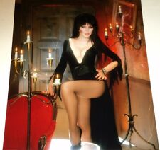 ELVIRA / SEXY BUSTY BY CANDLES /  8 X 10  COLOR  PHOTO