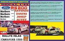 ANEXO DECAL 1/43 FORD RS 200 ANTONIO ZANINI RALLYE ISLAS CANARIAS 1986 (01)