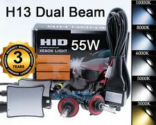 Xenon 55W HID Hi/Lo Headlight Bi-Xenon Conversion Kit - H13 9008 - 6000K White