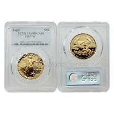 USA 1987W Eagle $50 1 oz Gold PCGS PR69DCAM