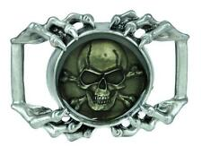 Skeleton Claw Hands w/ Skull Belt Buckle Metal Psychobilly Horror Alternative