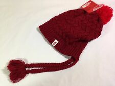 North Face Womens Flecka Earflap Beanie - One Size - Biking Red - NWT 2016