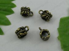 10Pcs Antique bronze Bail Beads Connector Charms Pendants inner diameter4.5mm