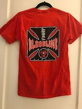 RED ISLAND HAWAII CHOPPERS LOCAL BLOODLINE LOGO TEE T-SHIRT ADULT SMALL