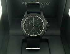 NEW $450 Victorinox Swiss Army Men's  ~BLACK OUT CHRONOGRAPH~ Watch!!