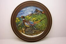 1986 KNOWLES PHEASANT PLATE # 6630A  WITH FRAME---ARTIST WAYNE ANDERSON