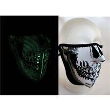 Biker Chopper Skull Face Mask Gesichtsschutz Maske Sturmhaube Glow In The Dark