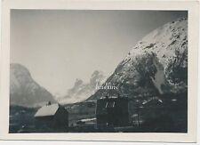 Foto Feldzug in Norwegen- Gebirgslandschaft /Häuser  2.WK (B284)
