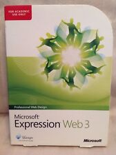 Microsoft Expression Web 3 Professional Web Design Windows PC Academic Version