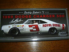 #3 Buddy Baker 1969 Dodge Charger 500 Royal Dodge 1/24 NASCAR Legends IN STOCK