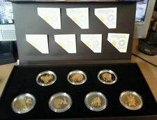 2014 Canada Set Of Seven Silver and Gold Plated Coins (Seven Sacred Teachings)