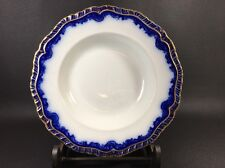 Antique Stone China Booths England Flow Blue / Gold Soup Bowl 11JB