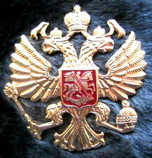 Original Russian  Military Imperial Eagle Hat Cap Metal Pin Badge