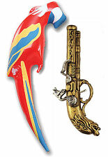 Pirate Inflatable Parrot Parott & Gun Musket Child & Adult Fancy Dress