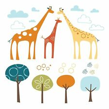 Skip Hop Zoo Giraffe Safari Wall Decals 60 Pieces Nursery Wall Sticker Set