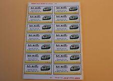 PZb 1 planche 14 ex étiquette autocollant Porsche 917 Lh Le Mans 1971 N°17 Heco
