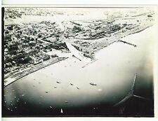 1939 Professional Aerial  Photo  Milwaukee Lakefront Ford Trimotor Plane
