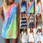 Womens Summer Boho Short Mini Dresses Beach Bikini Cover Up Swimwear Sundress