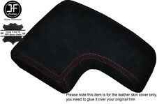 RED STITCH ARMREST LID SUEDE COVER FITS ALFA ROMEO 159 & BRERA 2005-2011