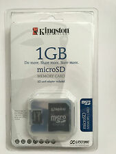 Kingston microSD 1GB Micro Secure Digital Memory Card Adapter Included SDC/1GB