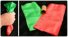 "COLOUR CHANGING SILK HANKY 6"" STAGE CLOSE UP MAGIC TRICK PROP RED GREEN DYE TUBE"