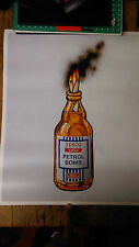 BANKSY TESCO VALUE PETROL BOMB, PLATE SIGNED. LTD EDITION OF 2000.OPEN TO OFFERS