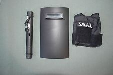 "21st Century 1:6 Black SWAT Shield + Ram + Vest Gear for 12"" Action Figures C-82"
