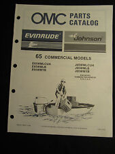 1987 Evinrude Johnson 65 HP Commercial Outboard Parts Catalog Manual FACTORY OEM