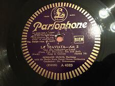 """GERHARD HUSCH """"La Traviata"""" Act 2/""""Czar Und Zimmermann"""" 78rpm 12"""" 1931 VG+ RARE!"""