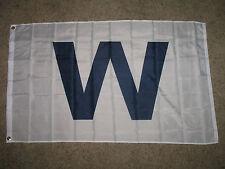 Dark Blue W Chicago Cubs Flag Super Poly 3x5 3'x5' feet Flag Banner