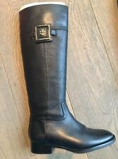 $495 Tory Burch Julian 30mm Riding Black Leather Boot - Size 7 - Worn one time