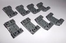 Lego (4871) 8 Schrägsteine 4x2 mit 2 Schrägen 45° invers in, dunkelgrau aus 8087